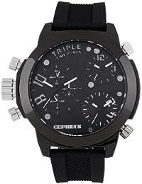 CEPHEUS Herren-Armbanduhr XL Analog Quarz Silikon CP902-622
