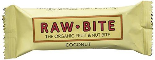 Raw Bite Barrita Ecológica de Coco - Paquete de 12 x 50 gr - Total: 600 gr