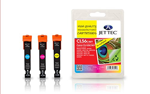 Preisvergleich Produktbild Jet Tec 4541B006 Canon CLI-526 C, M, J Multipack In England hergestellte Tintenpatrone Kompatible Tintenpatrone Cyan, Magenta, Gelb