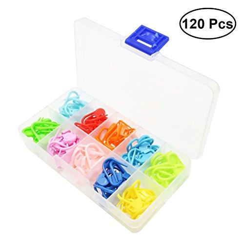 Healifty 120pcs Locking Stich Marker Häkeln Strick Stich Zähler Nadel Clip Pin mit Aufbewahrungsbox -