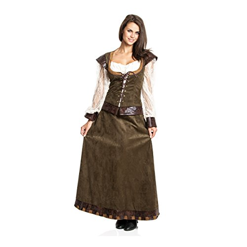 Kostümplanet® Damen Mittelalter Kostüm Burgfräulein Kleid mittelalterliche Kleidung