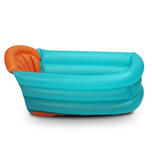 YDYLZC- Kinderbadewanne, aufblasbare Badewanne Familie Kleinkinder nehmen ein Bad Badewanne Baby Kind verdicken Warm halten Badewanne weich (Farbe : A)