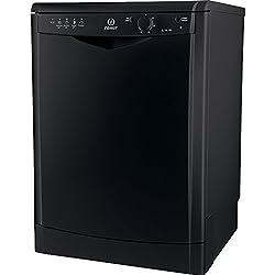 Indesit DFG 15B1 K Freestanding 13 Place A Dishwasher - Dishwasher (Freestanding, Black, Buttons, Rotating, 13 Places, 49 dB)