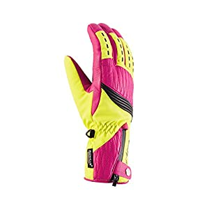 Viking Handschuhe Winter Skihandschuhe Damen – echtes Leder – warm, atmungsaktiv und wasserdicht – HYPERLOFT und DRYZONE – Lucilla, 73 gelb, 7