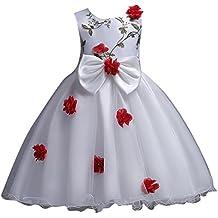 buy popular e4f04 44d9f Amazon.it: vestiti per cerimonie da bambina 12 anni - Rosso