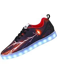 Sibba Leuchtende LED Sportschuhe Sneaker Aufladen 7 Lichtfarbe Auswahl Unisex Turnschuhe