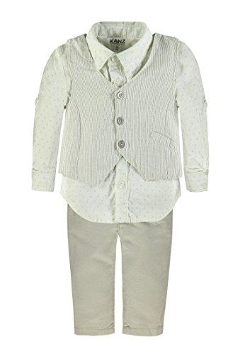 Kanz Baby - Jungen Weste + Hemd 1/1 Arm + Hose (56, 0005 Y/D Stripe)