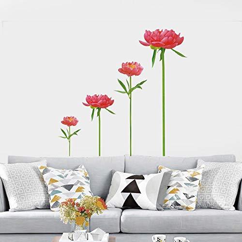 Wandaufkleber wohnzimmer schlafzimmer dekoration rote brokat wandaufkleber sofa TV hintergrund wandaufkleber abnehmbare PVC Brokat-cup