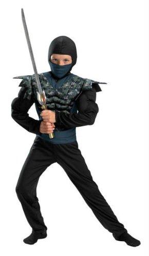 Disguise Shadow Ninjas Night Fury Night Camo Ninja Classic Muscle Boys Costume, 10-12