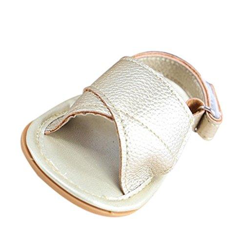 Igemy 1 Paar Babys Mädchen Sandalen Sneaker Anti-Rutsch Soft Sole Kleinkind Schuhe Gold