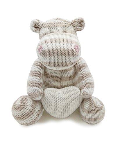 ter Spielzeug | sehr weiches Flusspferd Plüschtier mit Herz für Baby / Säugling / Kleinkind | Bio-Baumwolle stricken (Einfache Thanksgiving-handwerk Für Kleinkinder)