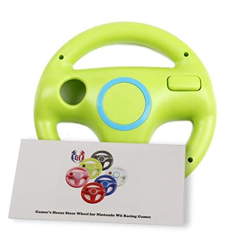 Wii U Wii Lenkrad Original Weiß für Rennspiele Mario Kart Racing Wheels grün Yoshi Green
