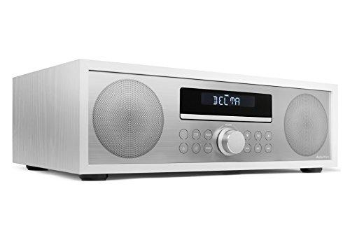 AudioAffairs CD-Mikroanlage/MP3-Audio Stereoanlage Kompaktanlage mit Bluetooth 3.0, PLL UKW-Radio mit RDS, USB & AUX-IN & Fernbedienung, Weiß - Verbesserte Version 2017 - Nur erhältlich auf Amazon.de
