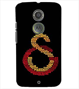 PrintDhaba QUOTE D-6539 Back Case Cover for MOTOROLA MOTO X2 (Multi-Coloured)