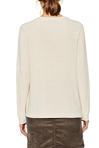 edc by ESPRIT Damen Pullover Weiß (Off White 110)