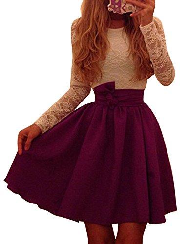 Pinkyee Damen Kleid Gr. S, Rot - Weinrot