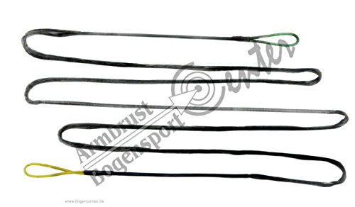 Black Flash Schwarze 14 Strang Bogensehne, Sehne aus Fast-Flight für Bogenlänge 70 Zoll, Langbogen, Recurvebogen, Bogenschießen