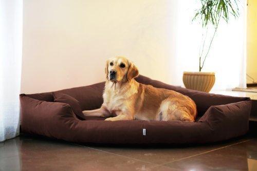 Artikelbild: TR4-01 Hundebett TRIVIA Eckbett Eckhundebett Hundesofa Hundebett Gr. L 100cm Braun