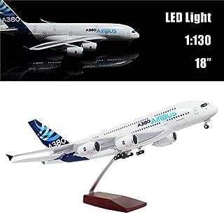 46cm Maßstab 1:130 Druckgegossenes Flugzeug Modell Airbus A380 mit LED-Licht Super Simulation Flugzeugmodell