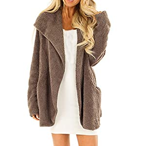TianWlio Jacken Damen Winter Volk Brauch Mit Kapuze Leinen Druckknöpfe Taschen Langer Mantel Parka Outwear Parka Mäntel Herbst Winter Warme Jacken Strickjacken Grau S/M/L/XL/2XL