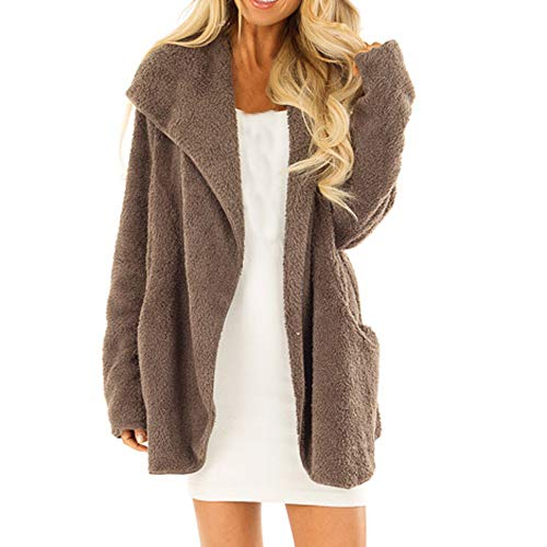 TianWlio Jacken Damen Winter Volk Brauch Mit Kapuze Leinen Druckknöpfe Taschen Langer Mantel Parka Outwear Parka Mäntel Herbst Winter Warme Jacken Strickjacken Grau XL Kapuze Parka