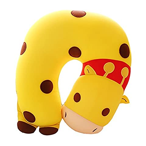 RGTOPONE Auto Pillow Airplane Car Travel U Shaped Soft Animal Cushion Buses Trains Double Sided Shoulder Protector Vehicle Seat Enhanced Design Softer and More Comfortable Neck/Head Support Sleep/Nap Headrest for Children Kids Adults, Protect Your Spine