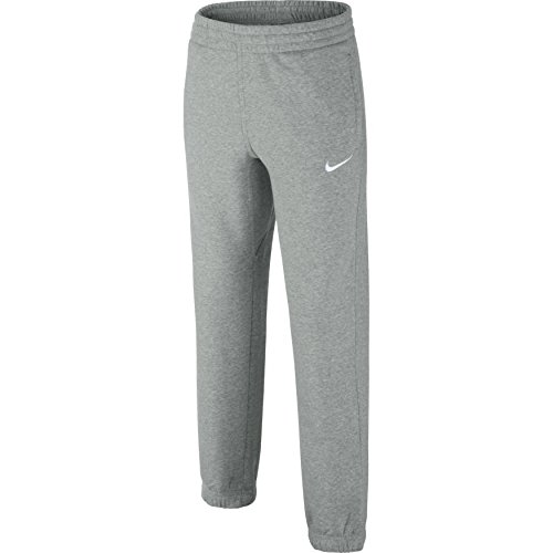 Nike Jungen Hose Brushed-Fleece Cuffed, Dark Grey Heather/Gym Red/White, XL, 619089-063 Preisvergleich