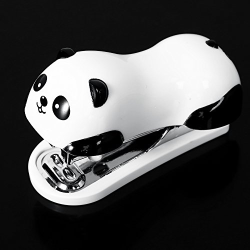 Bei wang Cute Panda Mini Desktop-Hefter & Heften Hand Hefter Office / Home Stapler