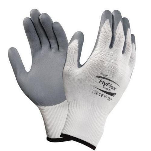 Ansell HyFlex 11-800 Mehrzweckhandschuhe, Mechanikschutz, Grau, Größe 9 (12 Paar pro Beutel)