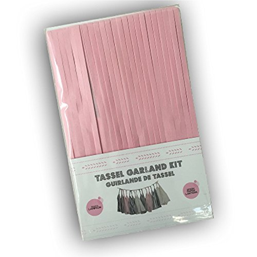 r The Paper Lantern - « Tassel Garland » Quasten Girlande - 4m - Hellgrau, perlweiss und Weiss - Inklusiv Gebrauchsanleitung. Dekoration für Kinderzimmer, Party und Hochzeit. ()