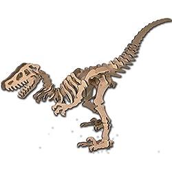 Dinoland Kit de madera Velociraptor, color marrón (Keranova 5602)