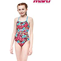 f20cf7844e Maru Girls Junior Bounce Pacer Fly Back - Pink UV and Chlorine Resistant  Swimsuit