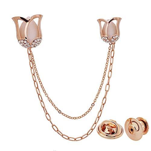 Pulsera joyería moda rosa broche cadena boutonniere