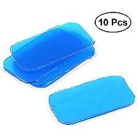 Preisvergleich für ROSENICE Abs Stimulator Gel Pads 10 stücke Körper Fit Gel Blatt Gel Patches Super Adhesive für Smart Fitness Getriebe