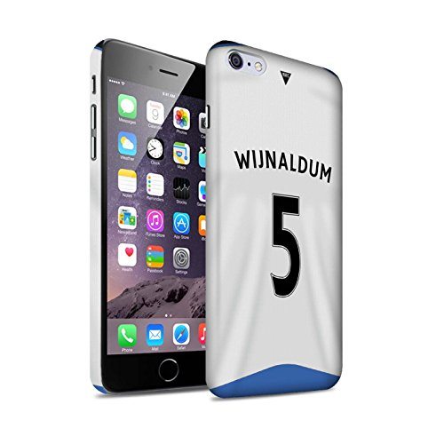Offiziell Newcastle United FC Hülle / Matte Snap-On Case für Apple iPhone 6+/Plus 5.5 / Pack 29pcs Muster / NUFC Trikot Home 15/16 Kollektion Wijnaldum