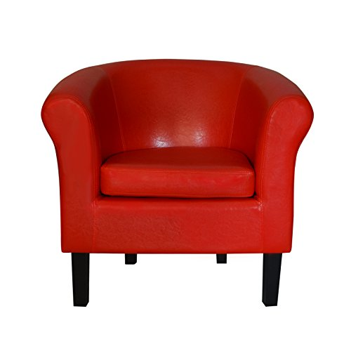 "TOP Sessel Clubsessel Loungesessel Cocktailsessel ""MONACO 2"" Rot W364 03"