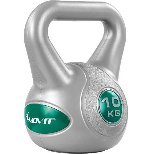 Movit Kettlebell Revestimiento de plástico Que Protege el Suelo, 9 Variantes: de 2 kg a 20 kg, probados en Busca de sustancias nocivas, balanceo de Pesas con Mancuernas Bola con Mancuernas