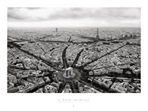 Reproduction d'art 'Paris, la place de l'Etoile vue du ciel', de Guillaume Plisson, Taille: 80 x 60 cm