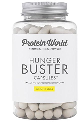 Protein World Hunger Buster Capsules Glucomannan supplement for curbing hunger and appetite between ...