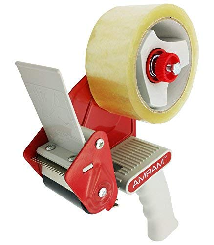 AMRAM Packband-Abroller, 5,1cm Breite, 7,6cm Core. Inkl. 1Rolle klar Packband 4,8cm von 54Meter