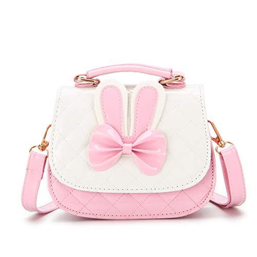 Kleine Mädchen Crossbody Geldbörsen, Mini Cute Princess Handtaschen für Kinder, Hase Schulter Messenger Bag Ostern Geschenke für Mädchen