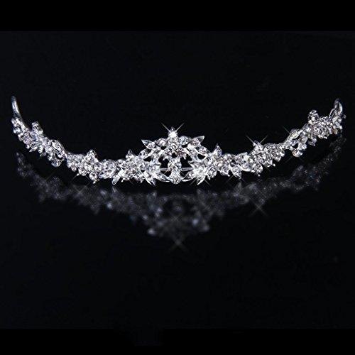 Gleader Moda Nupcial Rhinestone Crystal corolla Diadema Tiara Velo de la boda nueva