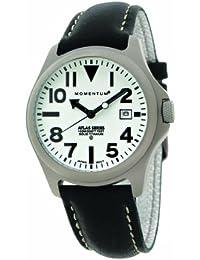 Momentum ATLAS 1M-SP00W2B - Reloj analógico de cuarzo para hombre, correa de cuero color negro