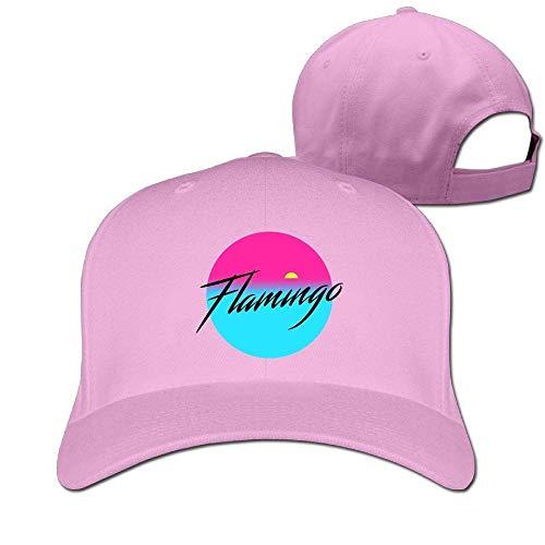 Classic Cotton Hat Adjustable Plain Cap, Flamingo Plain Baseball Cap Adjustable Size Curved Visor Hat 430