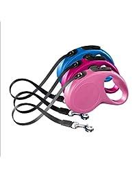 Correas para Perros Resistente Y Ajustable Manos Libres Trotar Caminar Mascotas Perro Collar Retractable Multifuncional Nylon Resistente Rayas Reflectantes M5 Meter,A-XS