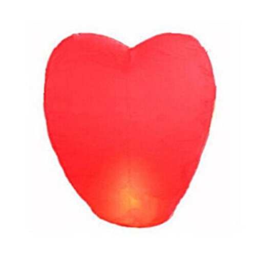 LinTimes–Lámparas de papel voladoras, diseño de corazón