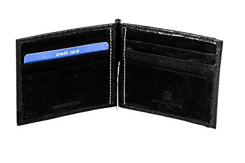 Mini Portafoglio uomo ANTONIO BASILE in pelle nero ferretto e portamonete A3561