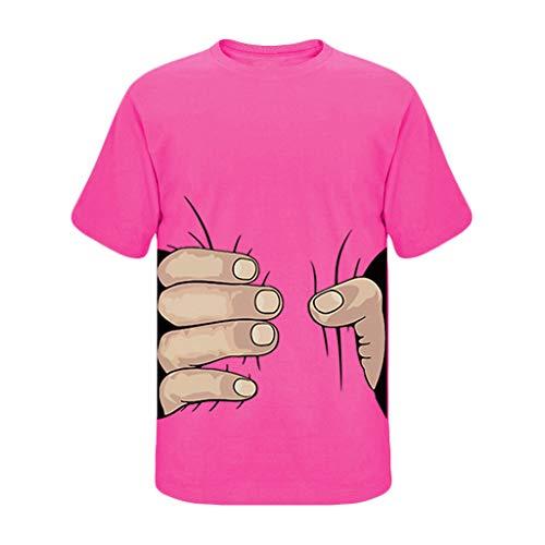 REALIKE Herren Unisex 3D Arm Druckten Kurzarmshirt T-Shirts Funky Sommer-Beiläufige Kurze mit Hülsen- T-Stücke Freizeit Gedruckt Hemd Tops Oversize Basic Mehrere Farben S-3XL Oberteile
