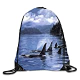 gthytjhv Space Cat Tap Sackpack Drawstring Backpack Waterproof Gymsack Daypack for Men Women gam4 Lightweight Unique 16.9x14.2