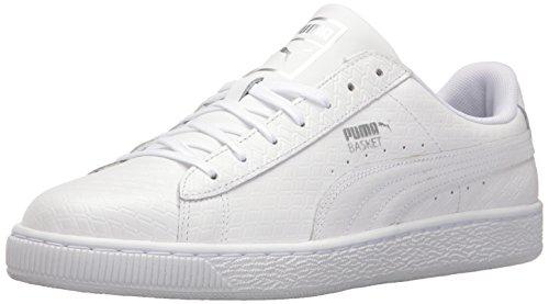 PUMA Men s Basket Classic B W Fashion Sneaker Puma White 7 D(M) US